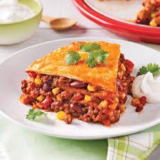 recette cuisine mexicaine lasagne mexicaine végétarienne recettes cuisine et nutrition