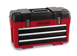 100 Plastic Truck Toolbox Craftsman 3Drawer Metal Portable Chest RedBlack Shop