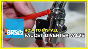 Sink Sprayer Diverter Connection by How To Install A Faucet Diverter Valve Brstv How To Youtube