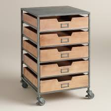 Equipto Modular Drawer Cabinets by Wood And Metal 5 Drawer Frederick Rolling Cart Metal Cart