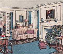 1916 Modern Colonial Living Room