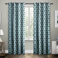 Gray Chevron Curtains 96 by Amazon Com Exclusive Home Curtains Neptune Cotton Grommet Top