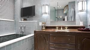 bathroom remodel incorporating components of deco style