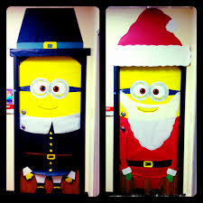 Classroom Christmas Door Decorating Contest Ideas by Minions For The Holidays Christmas Pre K Pinterest Holidays