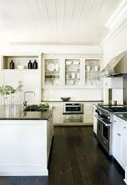 Small White Kitchen Dark Floors