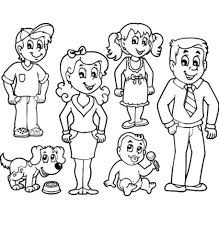 20 Free Printable Family Coloring Pages With