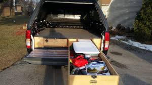 Truck Bed Storage Ideas - Nissan Frontier Forum Desk To Glory Drawers And Sleeping Gallery Also Truck Bed Platform Storage Diy Plans Rockland Custom Products Tactical Division Rock Solid Weapons Toyota Tacoma Owner Turns His Car Into A Handmade Rv Aoevolution Decked System Diy Bedroom Ideas And Ipirations Drawer Slides Fniture Box Cptl Single Troy Gladiator Gawb06mtzg Garage Bins Over The Wheel Well For Trucks Hdp Models