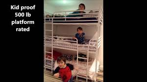 Jeromes Bunk Beds by Triple Tier Camp Or Hostel Bunk Bed Youtube