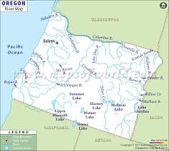 Oregon Rivers Map In