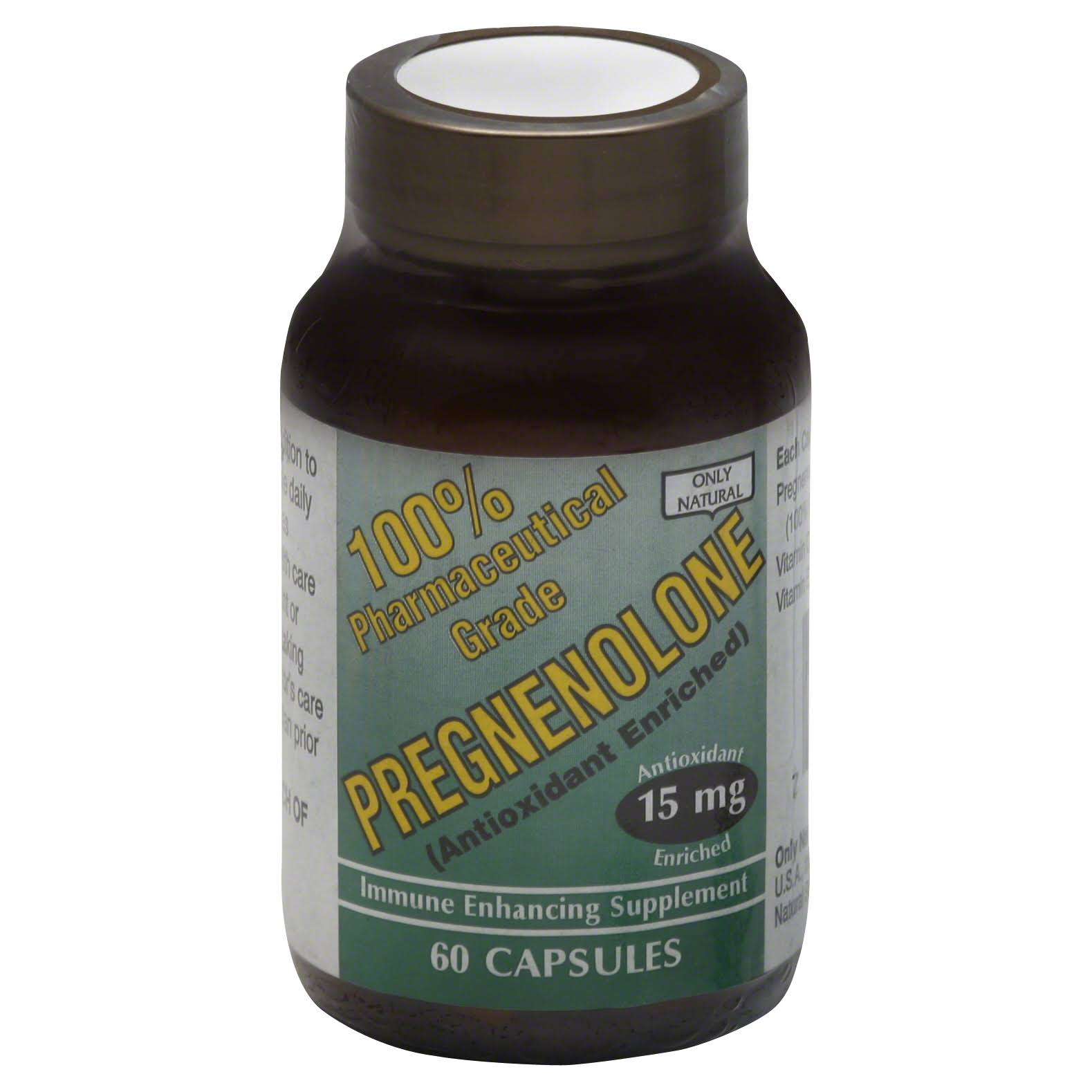 Only Natural Pregnenolone Enhancing Supplement - 15mg, 60ct