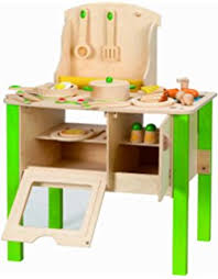 amazon com hape gourmet kitchen kid s wooden play kitchen in