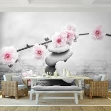 feng shui blumen vlies foto wandtapete dekoration runa 9430cp