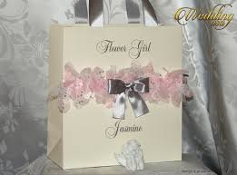 Silver Rose Ivory Custom Bridesmaids Gift Bag