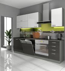 küche basic iv 240 küchenzeile hochglanz grau weiß einbauküche grey