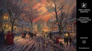 Thomas Kinkade Christmas Tree by A Victorian Christmas Carol Gallery Lighting Experience Youtube