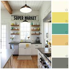 Paint Colour Palette Ideas For A Rustic Farmhouse Or Country Look In White Kitchen With Natural Floors Courtesy Of Magnolia Homes