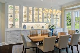 China Cabinet Ideas Dining Room Traditional With Built In Hutch