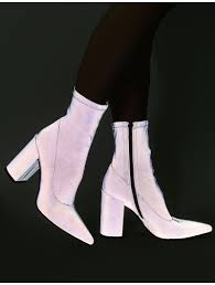 Lightning Sock Fit Ankle Boots In Grey Reflective