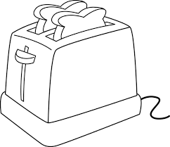 Electric Toaster Line Art