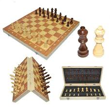 2017 High Qulity 39cm X Hot Sale Classic Wooden Chess Set Board Game Foldable Portable