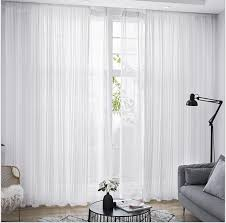 transparente gardine modern bäume muster für schlafzimmer