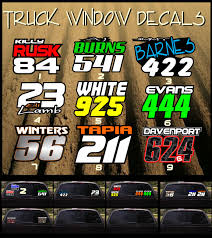 100 Custom Window Decals For Trucks Rusk Racing Motocross Graphics And Decals Thick
