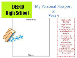 Sample Passport Template My Personal To Year 7 Photo Of Me Name Welcome High School This Word Download