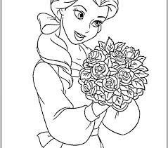 Coloring In Pages Princess Belle Best