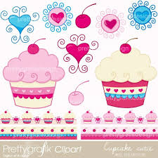 Deliciously Cute Cupcake Clipart Featuring 9 Images And 4 Borders