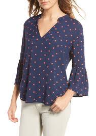 splendid splendid polka dot blouse casual shirts shop it to me