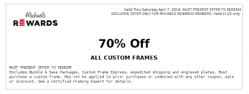 Michaels Coupon: 70% Off Custom Frames (In-Store) | Printable ... Arts Crafts Michaelscom Great Deals Michaels Coupon Weekly Ad Windsor Store Code June 2018 Premier Yorkie Art Coupons Printable Chase 125 Dollars Items Actual Whosale 26 Hobby Lobby Hacks Thatll Save You Hundreds The Krazy Coupon Lady Shop For The Black Espresso Plank 11 X 14 Frame Home By Studio Bb Crafts Online Coupons Oocomau Code 10 Best Online Promo Codes Jul 2019 Honey Oupons Wwwcarrentalscom