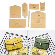 1set Hard Kraft Paper Stencil Template For DIY Leather Handmade Craft Women Handbag Shoulder Bag Sewing