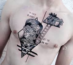 Strange Portrait Tattoo With Stairs A Tribute To David Bowie We Could Be Heroes