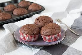 schoko zucchini muffins