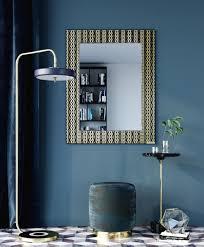 casa padrino designer wandspiegel schwarz bronze gold 99 x h 127 cm wohnzimmer spiegel garderoben spiegel luxus qualität