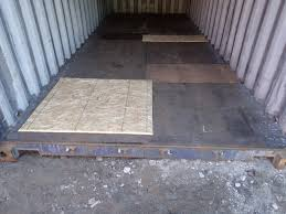 100 Shipping Container Flooring 20 X 8 X 85 Tall Continer AS IS Wind And Watertight Floor Patches Blue Up North Storage S