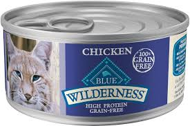 high protein cat food blue buffalo wilderness chicken grain free canned cat food 5 5 oz