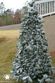 Flocked Christmas Trees Decorated by How To Flock A Christmas Tree Kelley Nan