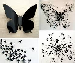 Butterfly Diy 3d Paper Wall Art DIY Projects Homesthetics 17