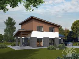 100 Modern Two Storey House The Modern Twostorey House Liucija Is Suitable For A Family Of 4