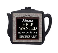 Kitchen Help Wanted Sign Decor Trivet Wall Hangings Funny Quotes Sayings