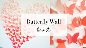 DIY Paper Butterfly Wall Art Decor
