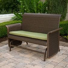 Chic Glider Loveseat Patio Furniture Outdoor Gliders Outdoor Patio