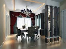 Red Curtains Living Room Ideas by Striking Modern Dining Room With Beautiful Divider And Red Curtain