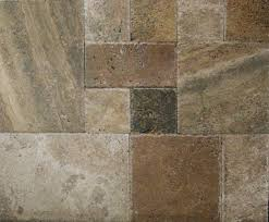 Versailles Tile Pattern Travertine by Versailles Pattern Rafaelo Brushed And Chiseled Containers