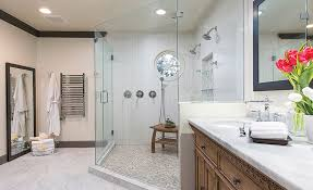 impressing bathroom neutral and earth tone colored tiles used for