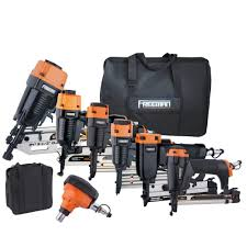 Home Depot Husky Floor Nailer by Freeman 9 Piece Complete Nail Gun Combo Kit With 21 Framing