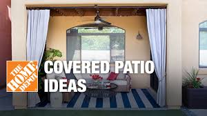 Covered Patio Ideas: Outdoor Living Space Design Tips   The Home ... Patio Ideas Home Depot Design Simple Deck Endearing Designs Pictures Cover Plans Tiles Table As Hampton Bay Lynnfield 5piece Cversation Set With Gray Concrete On Fniture With Luxury Small Ding Sets And Fresh Outdoor String Lights Show Diy Before After Of My Backyard Backyard Inexpensive Decks Porch Railing Railings Four White Chairs In Iron Framework Round Glass Over