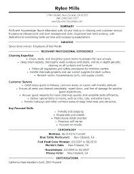 Housekeeper Resume Housekeeping Attendant Sample Assistant Manager Job Objective