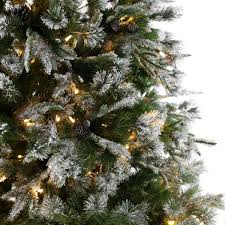 Silvertip Christmas Tree by Pre Lit Green Snow Effect Liberty Pine Artificial Christmas Tree